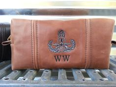 EOD Badge/ Steampunk/ Genuine Leather Rustic Shaving Bag/ Groomsmen Gift/ Father's Day Gift/ christmas/ anniversary