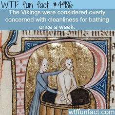 Cleanliness of the Vikings - WTF fun facts