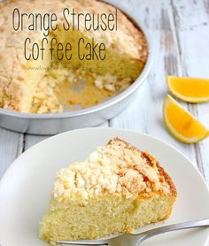 This Orange Streusel Coffee Cake is perfect for breakfast or dessert with its light orange flavor and tender crumb.