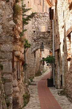 Quiet street in Eze ~ France, My friend just posted. I've been to Eze and her post brought so many memories flooding back. :)