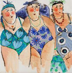Painting People, Figure Painting, Art Fantaisiste, Flamingo Art, Summer Painting, Art En Ligne, Butterfly Painting, Whimsical Art, Figurative Art