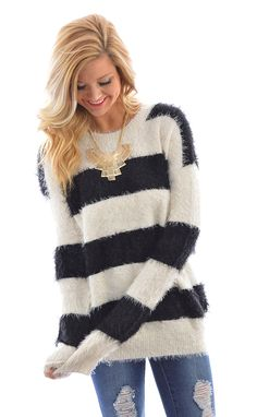 Fuzz Worthy Sweater  shopbelleboutique.com