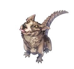 Draw Creatures A crocodog from Jak and Daxter, it actually looks really cute Mythical Creatures Art, Mythological Creatures, Magical Creatures, Weird Creatures, Creature Concept Art, Creature Design, Creature Drawings, Animal Drawings, Wolf Drawings