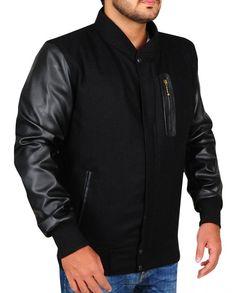 Michael B. Black Bomber Jacket, Leather Jacket, Michael B Jordan, Knitting Designs, Rib Knit, Jordans, Celebs, Sleeves, Celebrity