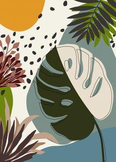 Minimalist Art, Minimalist Painting, Abstract Line Art, Oil Painting Abstract, Tropical Art, Tropical Paintings, Cute Patterns Wallpaper, Art And Illustration, Illustrations