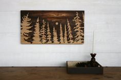 Large Wood Burned Wall Art In the Light of by TwigsandBlossoms