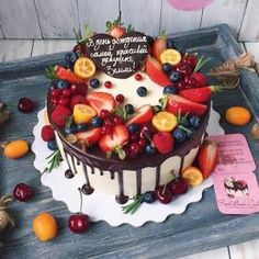Most up-to-date Cost-Free fruit cake icing Style - yummy cake recipes Delicious Cake Recipes, Yummy Cakes, Cake Icing, Cupcake Cakes, Fruit Cake Design, Gateaux Cake, Number Cakes, Cool Birthday Cakes, Fruit Birthday