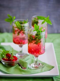 Strawberry Mojitos, a twist on the Cuban classic