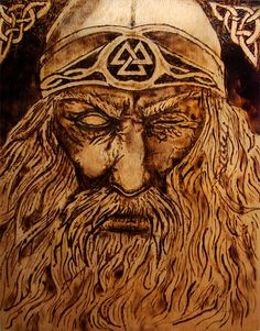 Woodburned Odin Plaque by TheForestNymph on Etsy, $40.00