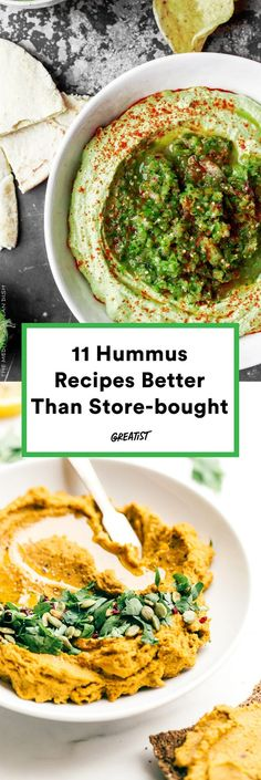 """""""Making homemade hummus is hard,"""" says the old you. #greatist https://greatist.com/eat/hummus-recipes-that-are-better-than-store-bought"""