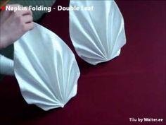 Napkin folding - Double Leaf - YouTube