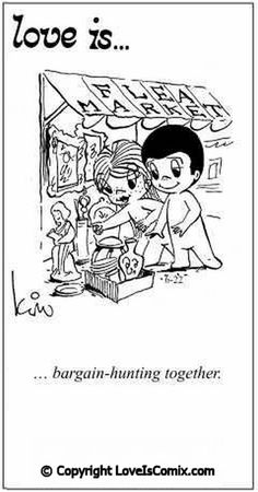 Love is. bargain-hunting together. - Love is. What Is Love, I Love You, Just For You, My Love, Love Is Cartoon, Love Is Comic, Couple Cartoon, Over Love, Love My Husband