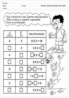 Atividades de Matemática 3º ano - Multiplicação