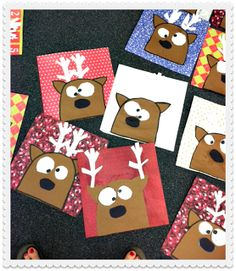 Funky Fresh Firsties: Rudolph's Crazy Cousin---Super cute craft idea