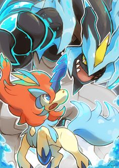 Battle of Legends by Raiphen.deviantart.com on @deviantART (Black Kyurem vs. Keldeo's resolution form)