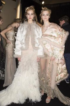 A look backstage at Alexander McQueen's Fall 2016 fashion show