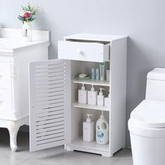 Bathroom Vanities - Walmart.com Shoe Storage Kitchen, Shoe Storage White, Utility Storage Cabinet, Pvc Storage, Bathroom Towel Storage, White Storage Cabinets, Bathroom Cabinet Organization, Cupboard Shelves, Bookcase Storage