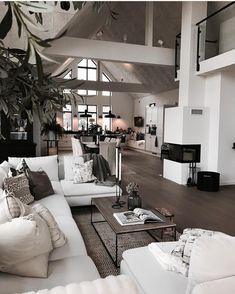 "3,230 Likes, 23 Comments - Vibeke J Dyremyhr (@interior_delux) on Instagram: ""FAB open plan design @husdrommen.lindell #openplan #livingroom #diningroom #kitchen #stue…"""