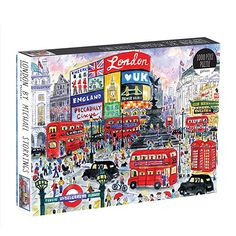 Award-winning illustrator Michael Storrings captures the special essence of cities in his art. Michael Storrings London 1000 Piece Puzzle from … Thé Illustration, Fun Indoor Activities, Viborg, Piccadilly Circus, Puzzle Art, Puzzle 1000, Landscape Artwork, Different Seasons, Fun Challenges