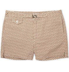 Michael BastianGiraffe-Print Short-Length Cotton-Oxford Swim Shorts|MR PORTER