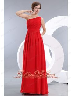 Cheap Red Prom / Evening Dress Empire One Shoulder Floor-length Chiffon Ruch- $106.11  http://www.fashionos.com   prom dress on sale   free shipping all over the world   online prom dress store   fitted and sexy dress   cheap prom dress around 150   ruched floor length prom dress   elegant dress for your prom   supreme dress at a low price   dress at a low price   best choice of dress for you    Maybe you won't believe it, but simply designed dresses can really make a dramatic first…