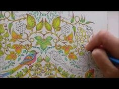 How I colour a leaf, part 2 (blending colours); Enchanted Forest - Johanna Basford - YouTube