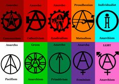 Anarchist Symbols by MyLittleTripod on DeviantArt Here's a series of minimalist symbols for various forms of Anarchism. Acab Tattoo, Symbol Tattoos, Anarchist Tattoo, Anarchy Symbol, Arte Punk, Punk Patches, Riot Grrrl, Political Art, Brush Script