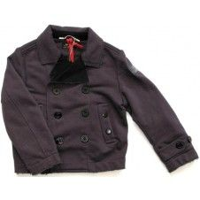 Rare The Kid Boys Double-Breasted Jacket - Aubergine