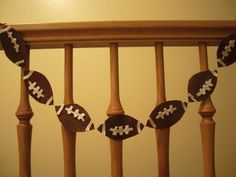 Superbowl party football garland tutorial