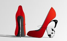 The 'Flutterby' shoe from Lady San Pedro. Winner of a competition from I-D magazine; Cinderthriller.