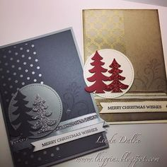 10 Days of Video Tutorials: Day 3 - Sparkly Tree Cards Pattern acetate strip.