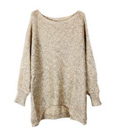 High Low Long Sleeves Pullover with Paillette