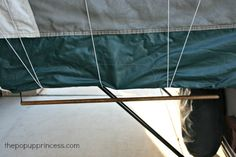 Pop Up Camper Mods: Bunkend Towel Rack - The Pop Up Princess