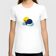 Fine Jersey T-shirts are made with 100% fine jersey cotton combed for softness and comfort.  ABOUT THE ART Digital Logo Design Whale Tenerife Canary Islands