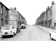 Part of Frederick Street Methodist Chapel extreme left and housing from Nos 23, 25 etc. (left), Nos. 14, 16, 18 etc.( right), Frederick Street, Darnall