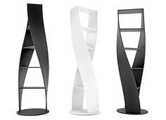 Love this    MYDNA Twist Bookcase from Joel Escalona Studio