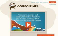 Animatron es una utilidad web con la que cualquier persona puede crear fácilmente banners, infografías y películas en HTML5. No es necesario programar.