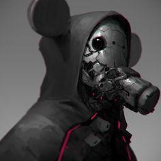 Weird disney concept art mask