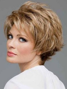 Short haircuts for women with fine gold hair over 50 by rosethomasuk