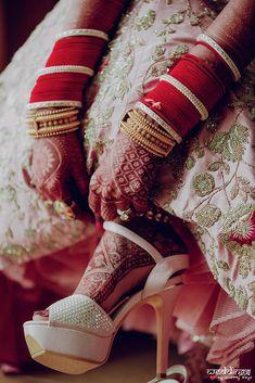 A Calcutta Wedding Where The Bride Gave Us Some Major Bridechilla Goals #shaadiwish #indianwedding #bridalshoes #bridalheels #indianbride #heels #shoeshighheels #heelsshoes
