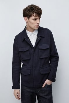 Knit Cotton-Blend Jacket - MAN | Adolfo Dominguez shop online