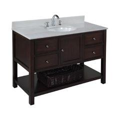 "Found it at Wayfair - Kitchen Bath Collection New Yorker 48"" Single Bathroom Vanity Sethttp://www.wayfair.com/Kitchen-Bath-Collection-New-Yorker-48-Single-Bathroom-Vanity-Set-KBCSWD8-KBCL1076.html?refid=SBP"