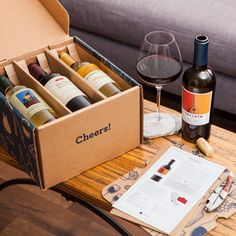 Wine Subscription Boxes: A Comparison of the Top Services Wine Gift Boxes, Wine Gift Baskets, Wine Gifts, Wine Hampers, Winery Tasting Room, Gift Subscription Boxes, Wine Brands, Wine Case, Bottle Packaging