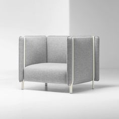 Pinch #seating system, designed by @skrivo_design for #furniture brand #LaCividina, features tubular legs that extend up to the tops of the furniture making the upholstered cushions look as if they're being pinched together.  via ✨ @padgram ✨(http://dl.padgram.com)