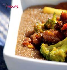 ''Polenta'' d'amarante avec haricots et légumes sautés - Miss-Recipe.com   Traiteur vegan à Québec