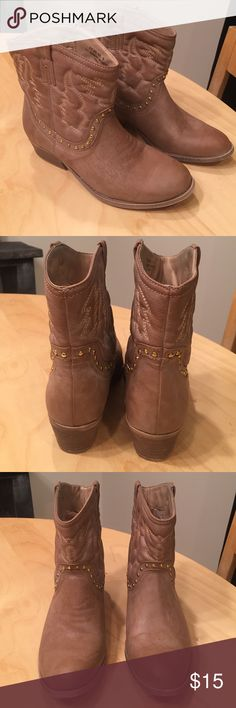 Ankle cowboy boots These boots were worn twice and are in excellent condition!! Great for a country concert or dressed down to wear around town! Charlotte Russe Shoes Ankle Boots & Booties