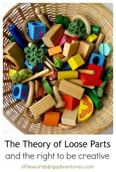 The Theory of Loose Parts: The Right to be Creative – Childcare Inquiry Based Learning, Early Learning, Toddler Activities, Learning Activities, Learning Stories, Free Activities, Teaching Ideas, Montessori, Block Play
