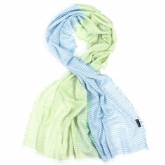 Fraas Stripey Two Tone Scarf Blue Green £16.95