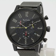 Paul Smith - Black Stainless Steel Radio Chronograph (Church Street)