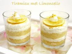 Make tiramisu with Limoncello yourself. Recipe from - toetje - Dessert Tiramisu, Sweet Recipes, Cake Recipes, Delicious Desserts, Yummy Food, Pavlova, Bon Dessert, Italian Desserts, Love Eat